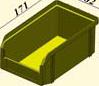 V-1 литр, желтый, Пластиковый ящик