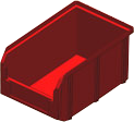 V-2 3,8 литр, красный, Пластиковый ящик