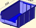 V-3 9,4 литр, синий, Пластиковый ящик