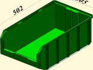 V-4, зеленый Пластиковый ящик 502*305*184
