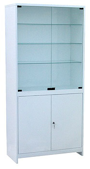 Шкаф ШМС-2 2-х створчатый стекло/металл