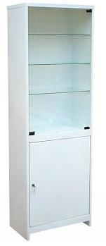 Шкаф 1-но створчатый стекло/металл ШМС-1-Р с регулируемыми опорами