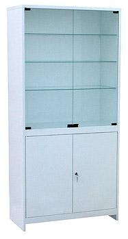 Шкаф 2-ух створчатый стекло/металл ШМС-2-Р с регулируемыми опорами
