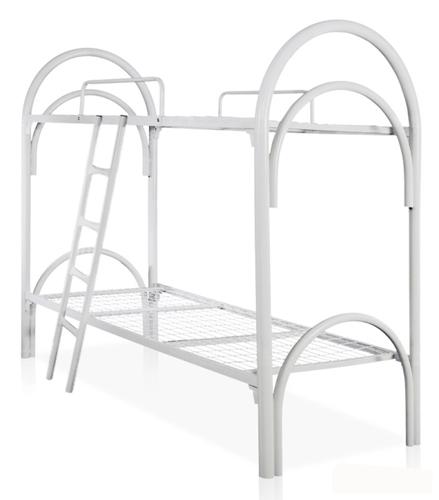 Кровать двухъярусная КМ.2-51 с лестницей и 2 ограждениями