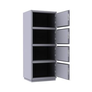 Шкаф металлический четырехячеечный